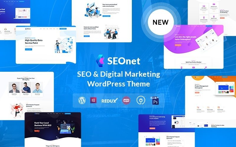 Seonet - WordPress-thema voor SEO en digitale marketing