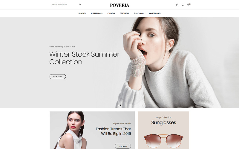Poveria - Modeaccessoires Winkels PrestaShop-thema