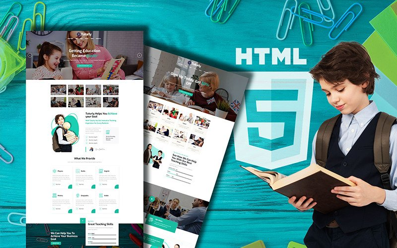 Tutorly Online Courses & Education Website Template