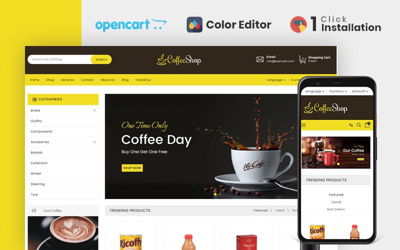 İçecek ve İçecek Mağazası OpenCart Şablonu