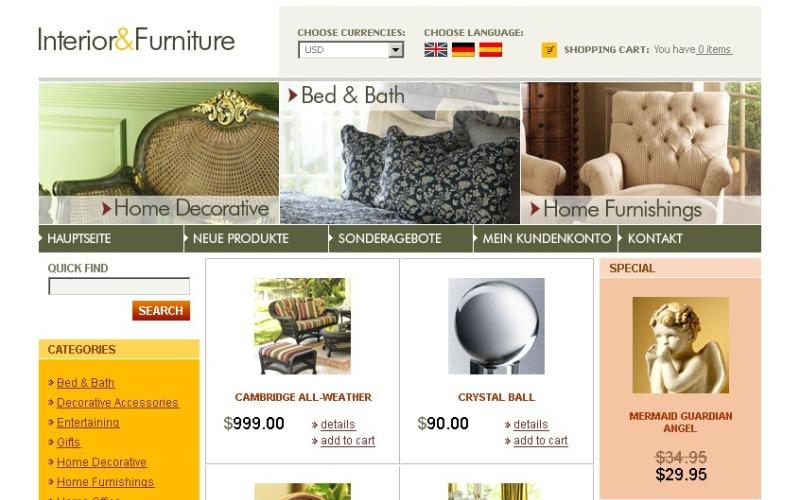 Interior & Furniture OsCommerce Template