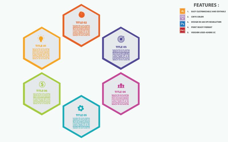 Hexagon Concepts Vector Design Infographic Elements