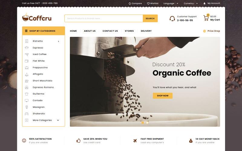 Coffcru - Tema de PrestaShop para Tienda de Café y Bebidas