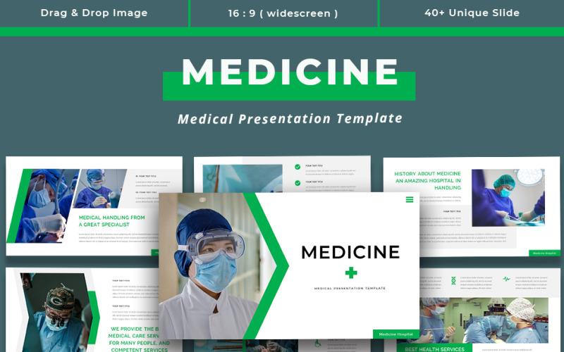 Gyógyszer - orvosi bemutató PowerPoint sablon