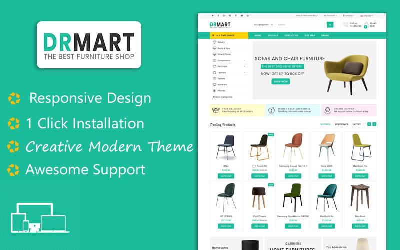 DR Mart - Modern Furniture OpenCart Template