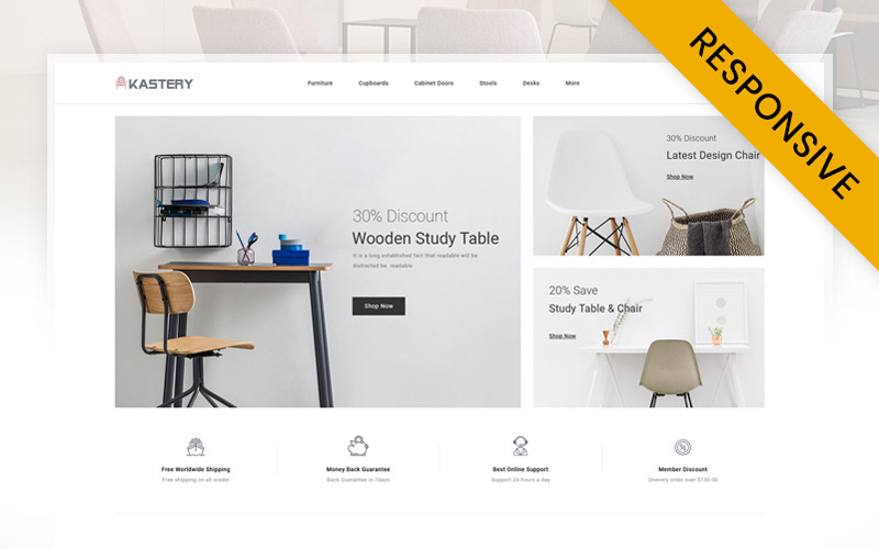 Kastery - Wood Furniture Store OpenCart Template
