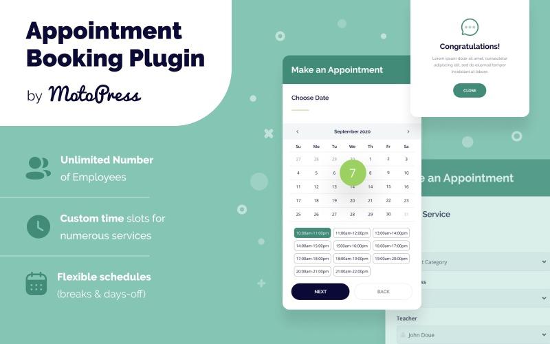 Plug-in WordPress de reserva de compromisso
