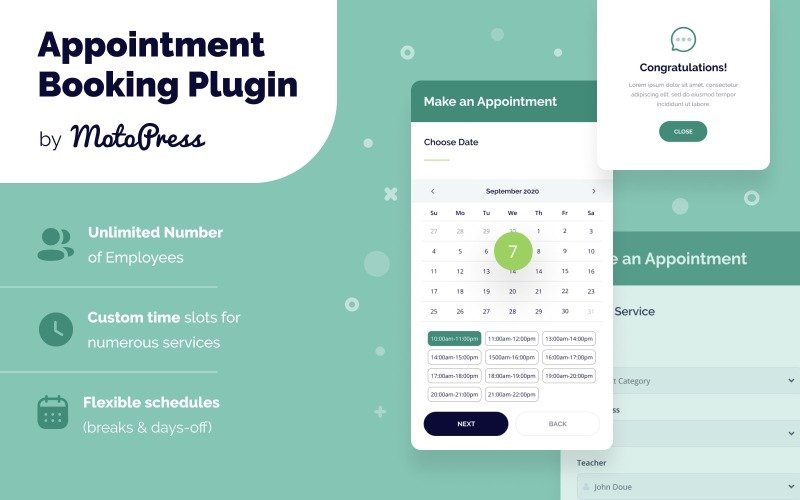 Plugin WordPress per la prenotazione di appuntamenti
