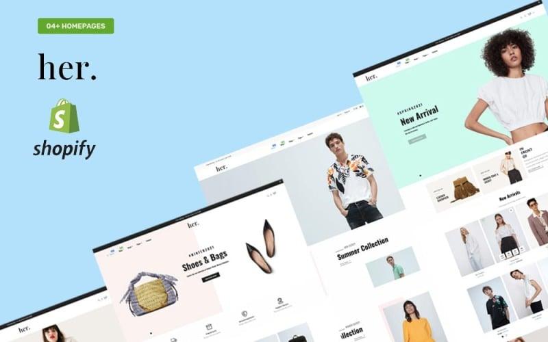 Ее магазин модной одежды - многоцелевая адаптивная тема Shopify