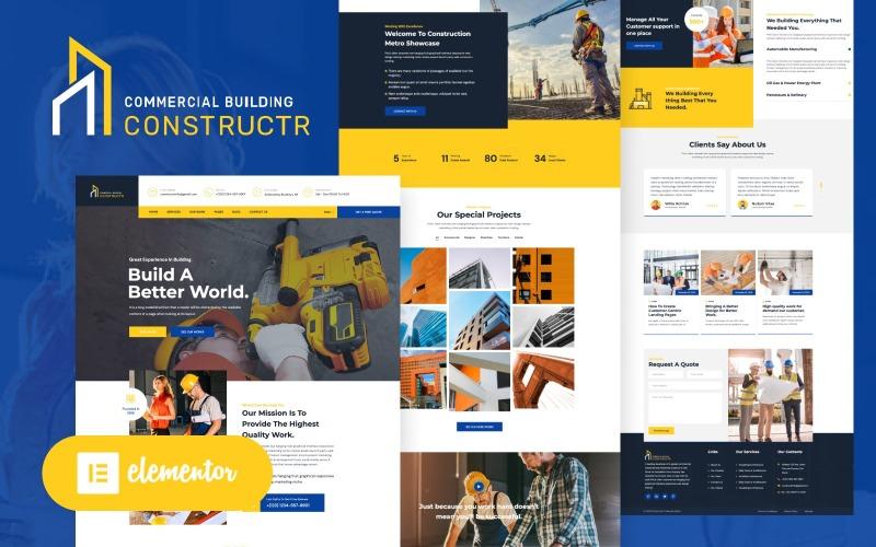 Constructr - Byggbransch WordPress Elementor Theme