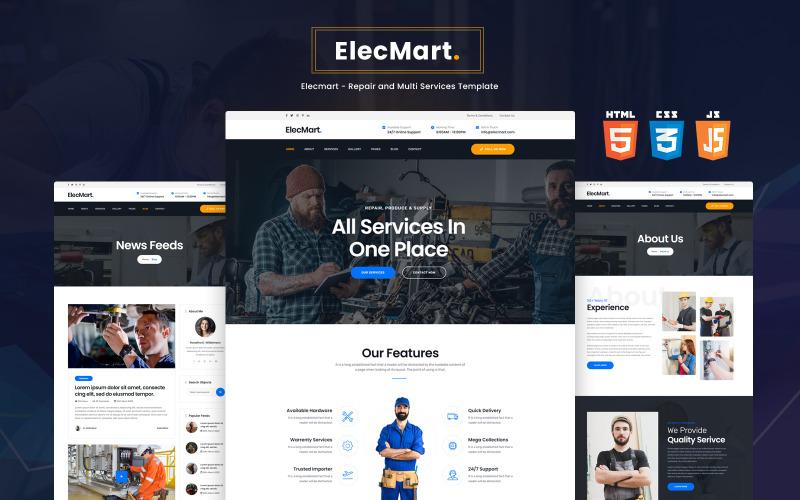 Elecmart - Šablona webových stránek pro opravy a více služeb