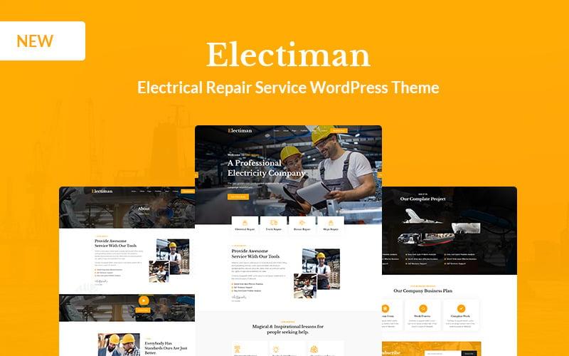 Electiman - Tema de WordPress para servicio de reparación eléctrica