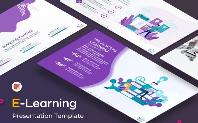 Modelo de PowerPoint para apresentação de E-Learning (PPT educacional)