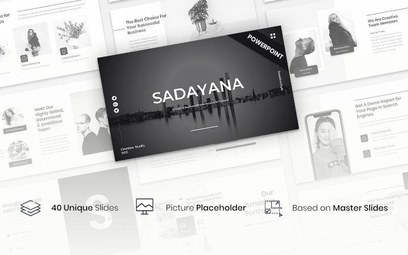 Sadayana - PowerPoint-sjabloon voor creatieve zakelijke presentaties