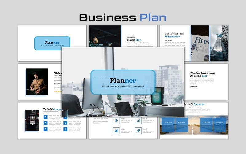 Planner - Kreativa affärsplan Google Slides