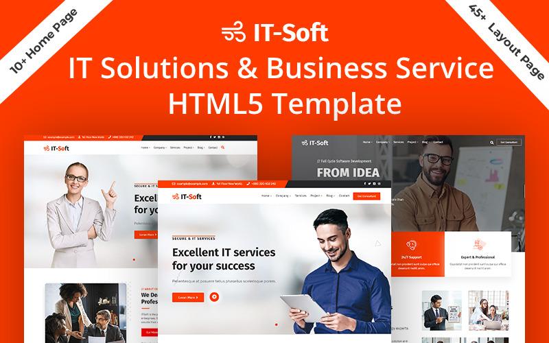 IToft IT řešení a obchodní služba HTML5 webová šablona