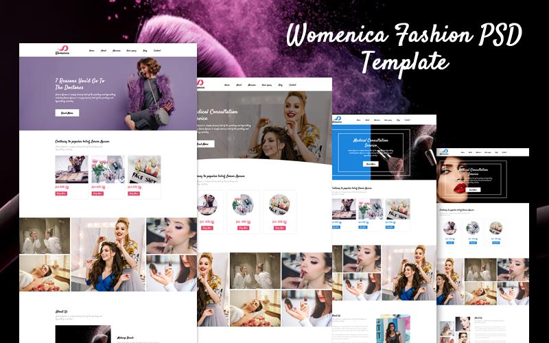 Womenica - módní úvodní stránka PSD šablona