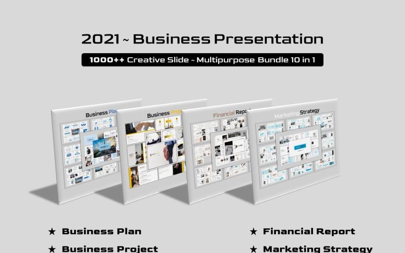 Business Bundle 10 in 1 PowerPoint-Vorlage