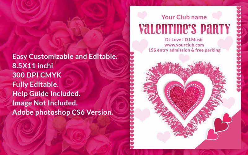 Valentines day party flyer - Corporate Identity Template