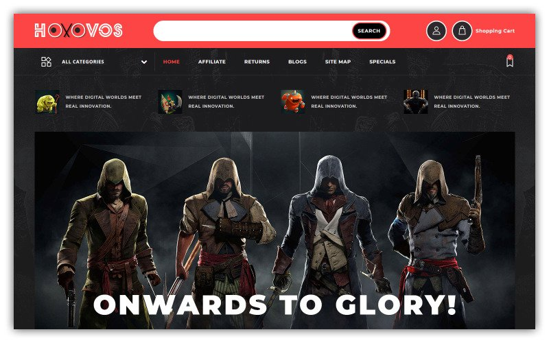 Hoxovos - Game Store OpenCart-sjabloon