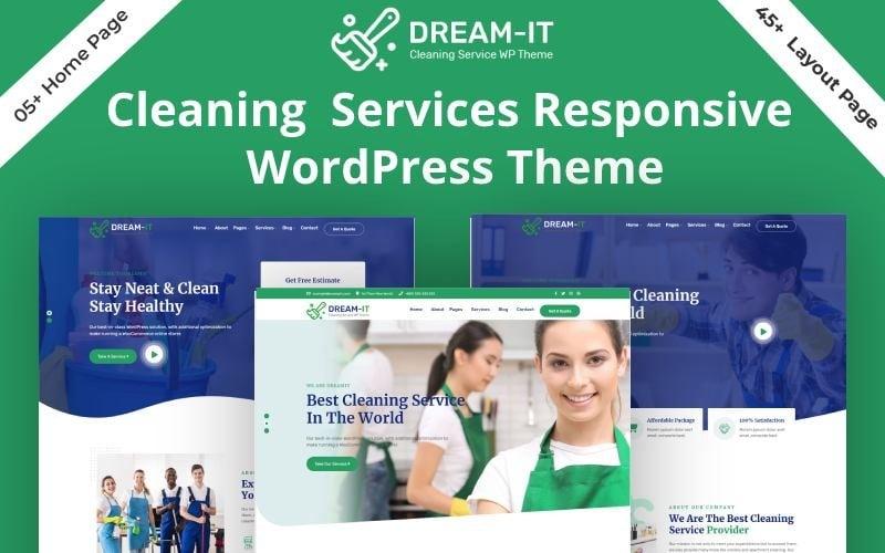 DreamIT- Cleaning Service WordPress Theme