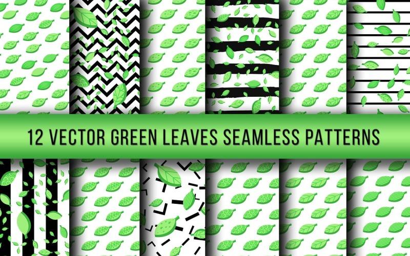 Zelené listy bezešvé vzor