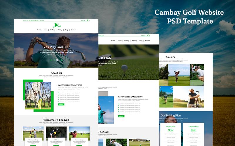 Golf Website Landing Page PSD Template