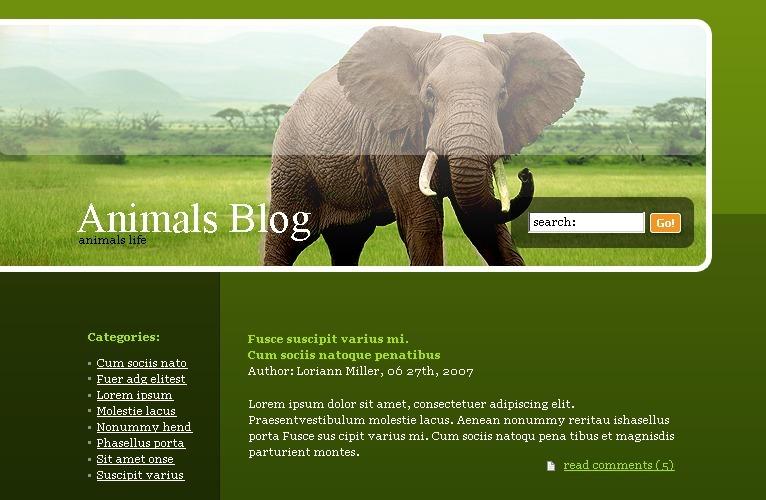 Wild Life WordPress Theme