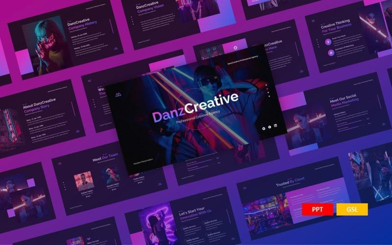 Danz - шаблон Creative Presentation PowerPoint