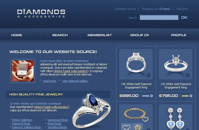 Jewelry PhpBB Template