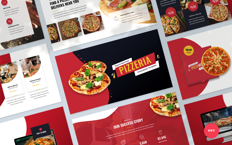 Pizzeria - Pizza and Fast Food Presentation PowerPoint Template
