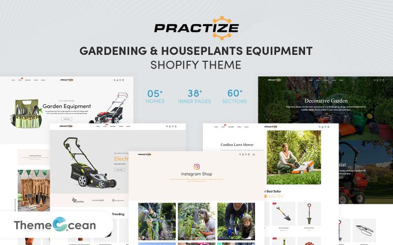 Practize - Gardening & Houseplants Equipment Shopify Theme