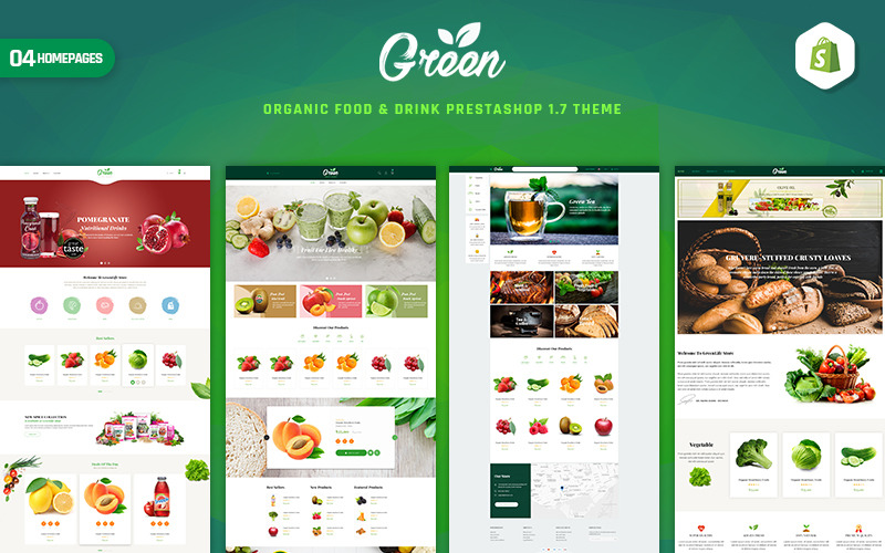 GreenLife - Organic Food & Drink PrestaShop Theme