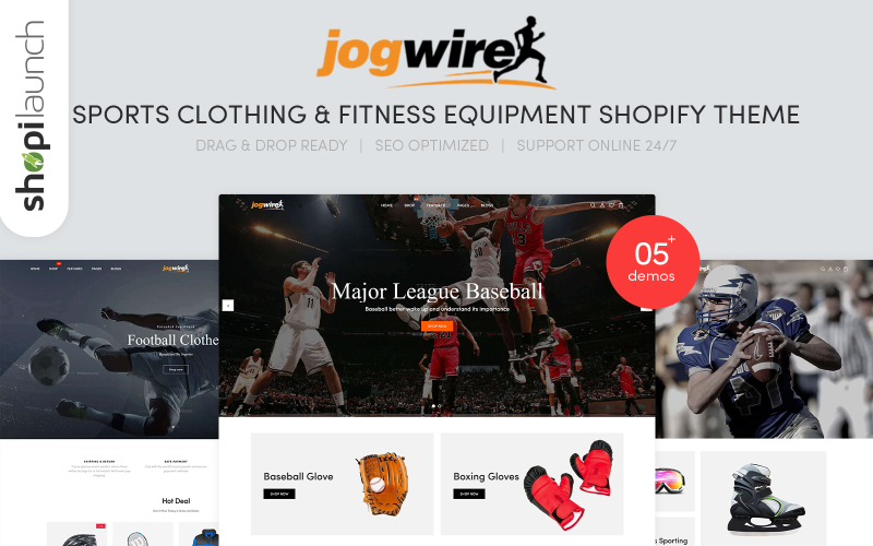 Jogwire - Sports Clothing & Fitness Equipment Shopify Theme