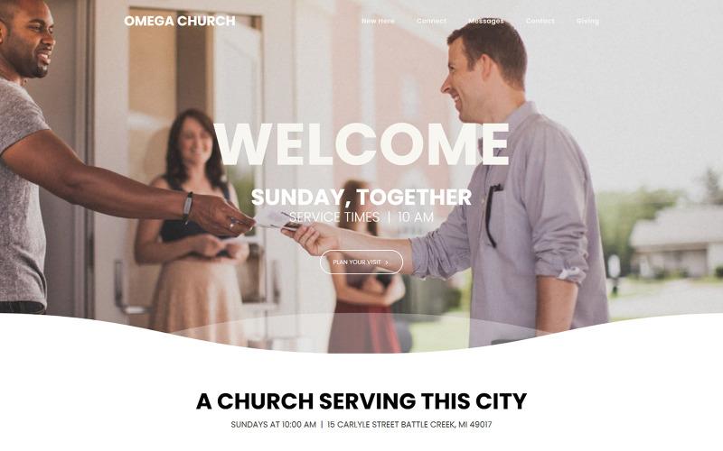 Omega - Church Moto CMS 3 Vorlage