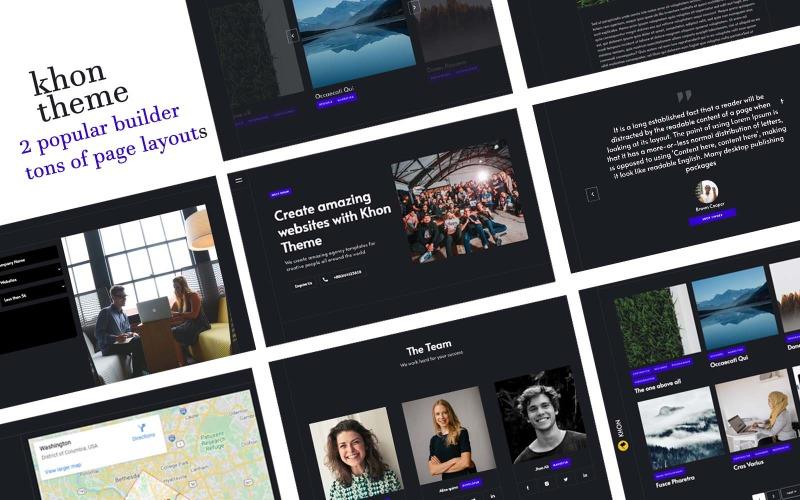Khon - Creative Agency WordPress Theme