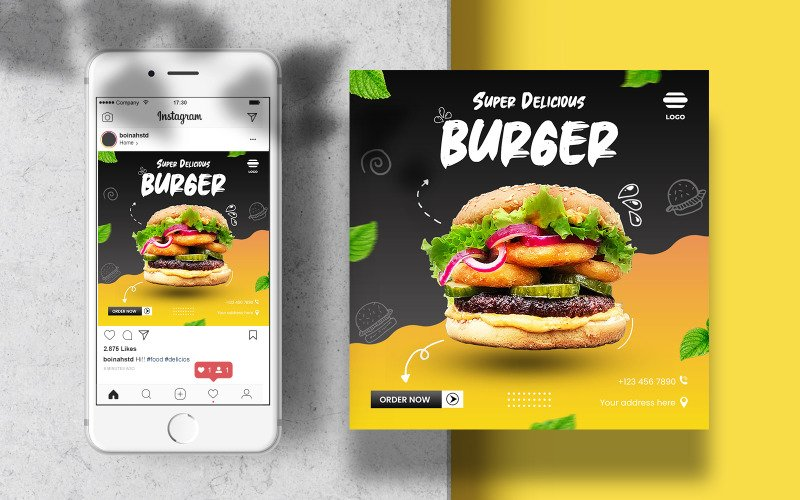 Culinary Food Instagram Post Template for Social Media