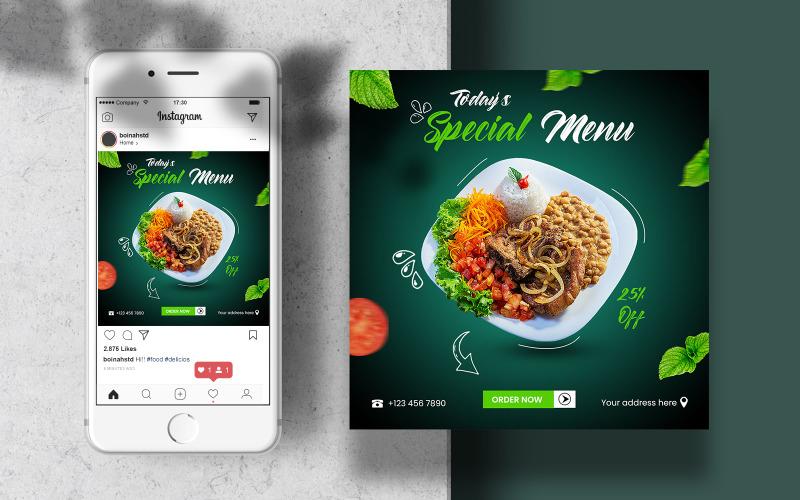 Food Instagram Template Banner Post for Social Media