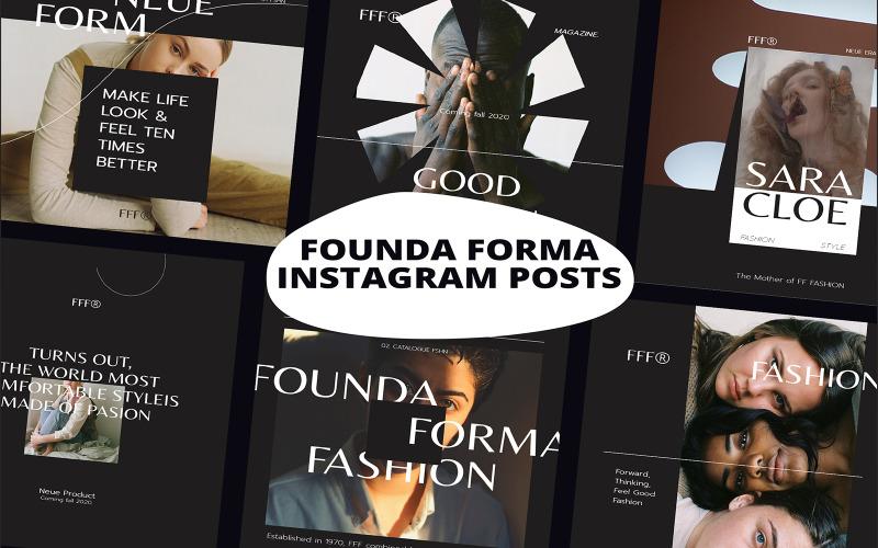 Founda Forma Instagram Posts Social Media Template