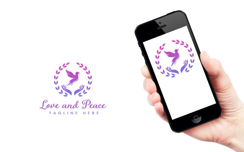 Дизайн логотипа любви и мира