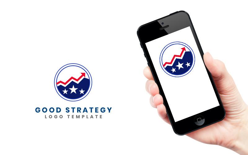 Стратегия Логотип Дизайн Шаблон Логотипа