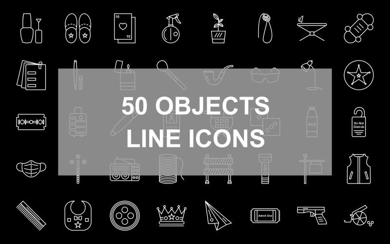 Набор иконок из 50 объектов