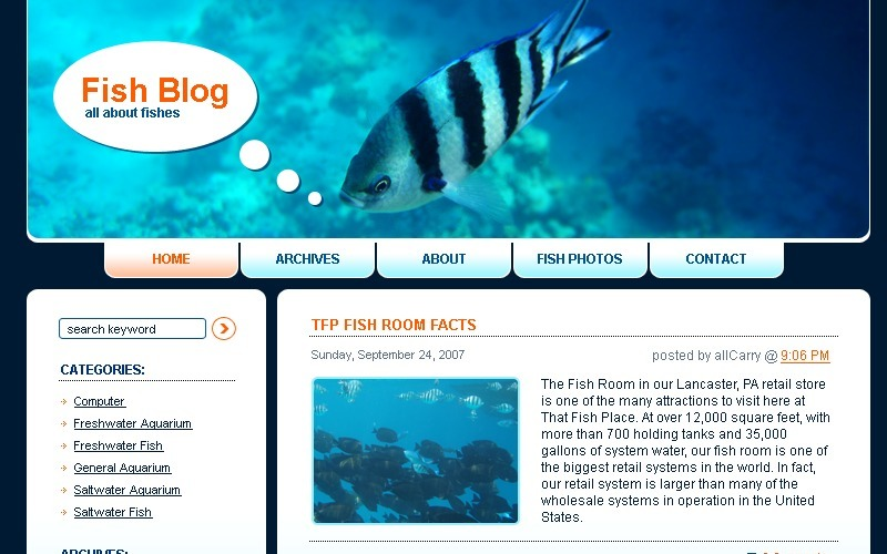 Fish WordPress Theme