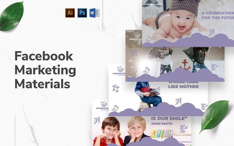 Kindergarten Facebook Cover and Post