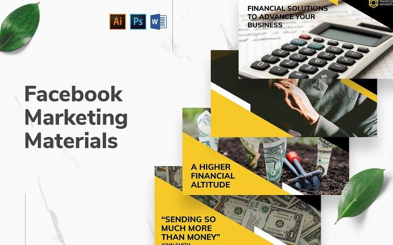 Обложка и публикация финансового консультанта в Facebook
