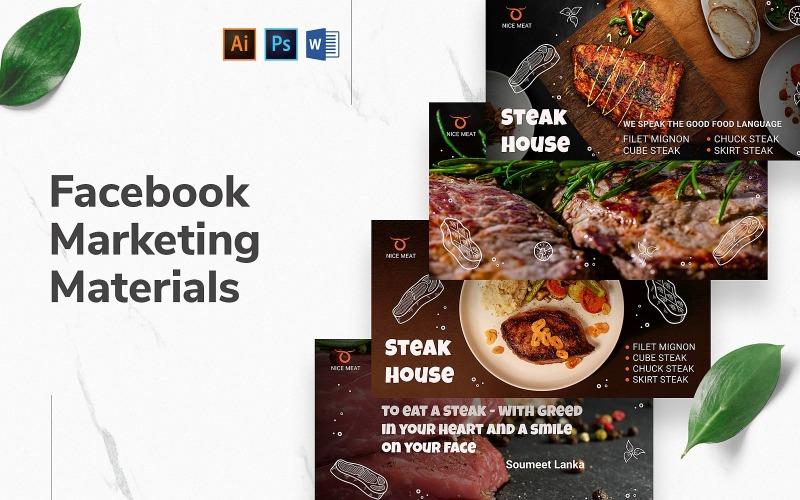 Обложка и публикация Steak House на Facebook