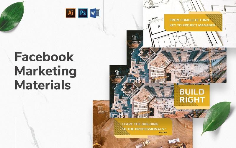 Обложка и публикация в Facebook Строительной компании
