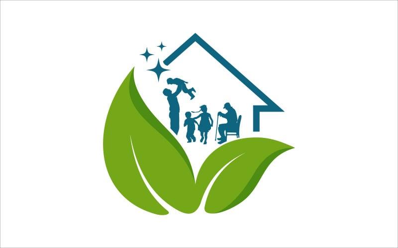 Домашний Уход Семья Векторный Логотип Дизайн Шаблон Логотипа