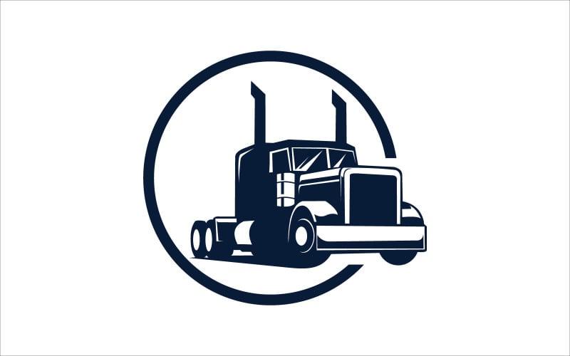 Синий грузовик векторный логотип дизайн логотипа шаблон