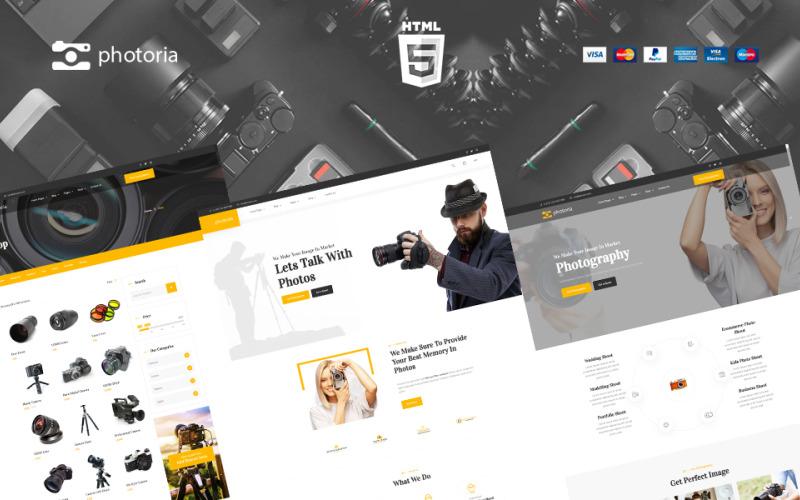 Modelo de site de loja e vitrine de fotografia Photoria